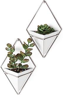 Umbra Vase, White/Nickel,