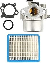 Buckbock 799866 Carburetor with 491588 Air Filter for Briggs& Stratton Lawnmower 794304 796707 790845 799871 Craftsman Toro Carb Engine 4 Cycle Lawn Mower