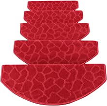 JIAJUAN Soft Stair Carpet Treads Self-Sticking Non Skid Stairs Floor Pad Simple, 4 Colors, 4 Sizes (Color : D-1 pcs, Size ...
