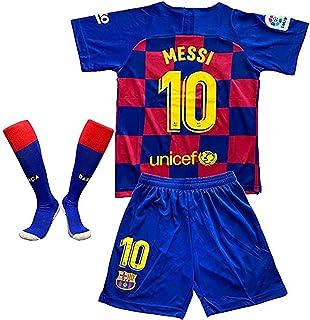 MGGALY Messi #10 Barcelona Home 2019/2020 Season Kids Youth Sport T-Shirts & Shorts & Socks