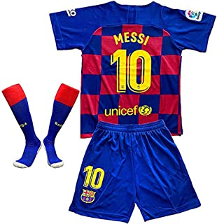 MBLLE #10 Messi Barcelona Home 2019/2020 Season Kids Youth Sport T-Shirts & Shorts & Socks