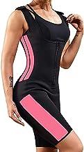 Dames Full Body Zweet Sport Wetsuit, Taille Trainer Bodysuit Met Mouwen Gewichtsverlies Afslankende Bodysuit (Color : Wate...