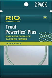 RIO Products Leaders Powerflex Plus 9' 3X Leader 2 Pack,  Clear