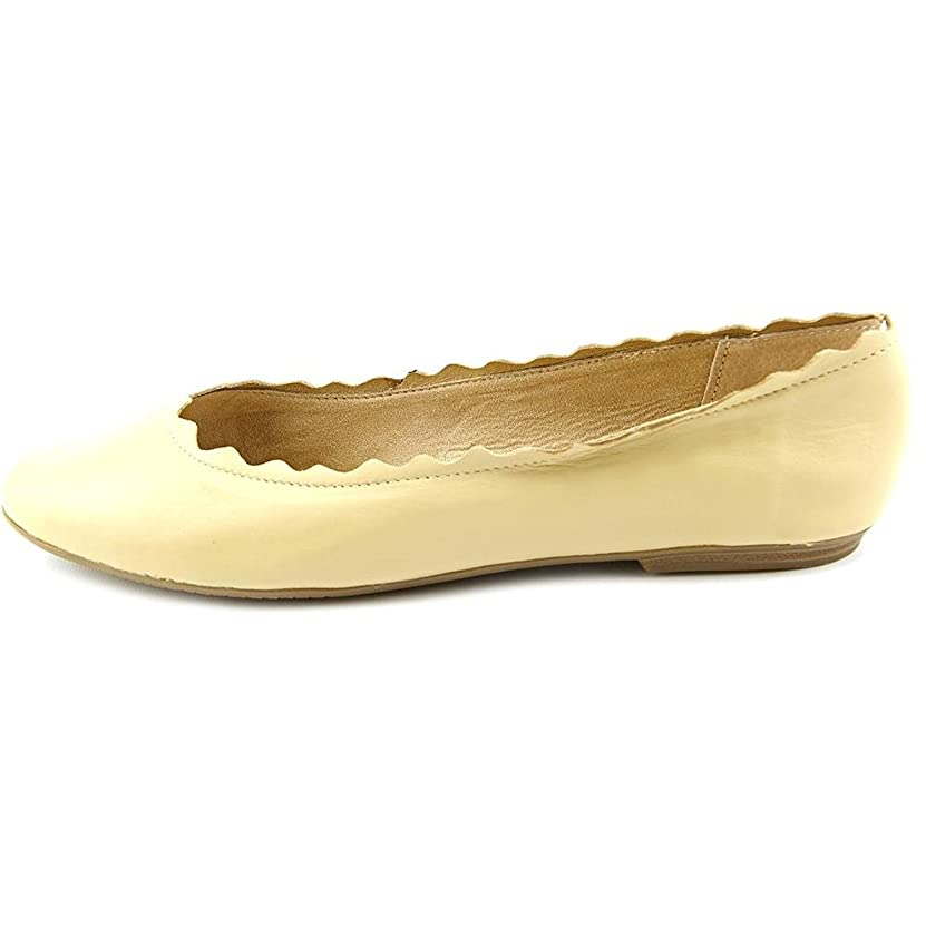 脇に予約ゴミ箱[Audrey Brooke] Womens Winny Leather Almond Toe Slide Flats [並行輸入品]