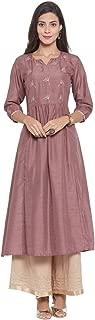 Varanga Women's Silk a-line Salwar Suit Set