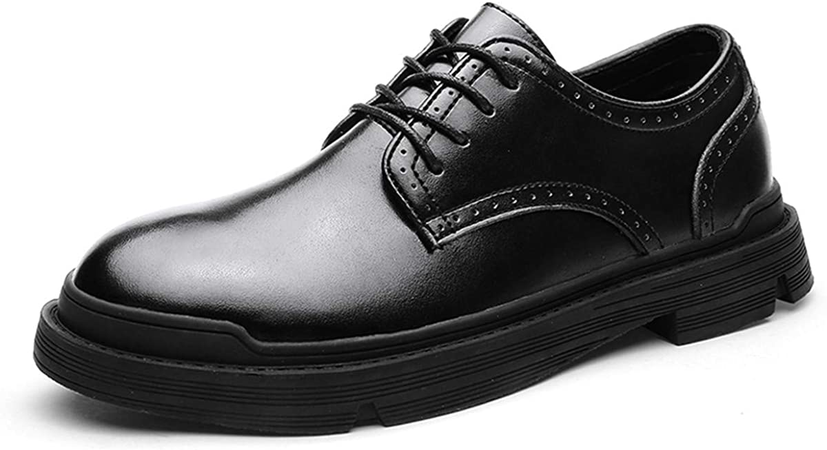 Men's Dress Shoes Genuine Leather Oxford Classic Formal Causal Shoes Round Toe Lace up Loafers Walk Business Oxford