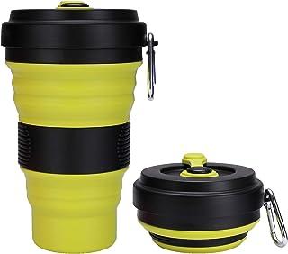 WENTS Tasse de Voyage Pliable en Silicone 6PCS Tasse de Caf/é Mince Portable R/éutilisable pour Les Voyages Le Camping la randonn/ée et Le Travail