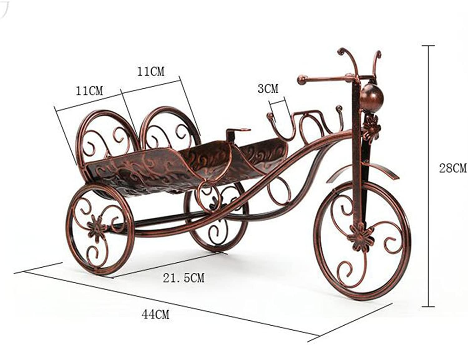 Tony home- Carriage Shape Wine Rack&Shelf Metal Sculpture Metal Wine Holder Wine Cabinets ( color   Brown , Size   Two bottles )