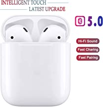Bluetooth 5.0 Wireless Earbuds Headsets Bluetooth Headphones ?24Hrs Charging Case? 3D Stereo IPX5 Waterproof Pop-ups Auto Pairing Fast Charging for Earphone Samsung Apple Airpods Pro/Airpods/Airpod 2