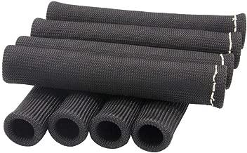 Ucreative Black Fiberglass Spark Plug Wire Heat Protector Insulating Fire Sleeve 8-Pack