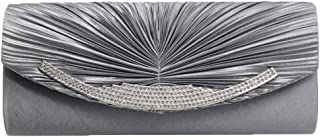 Cckuu Womens Evening Clutch Rhinestone Pleated Purses Wedding & Party Clutches