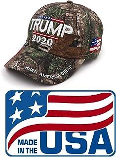 Mersinni Trump 2020 MAGA Camo Embroidered Hat Keep Make America Great Again Cap Made in USA
