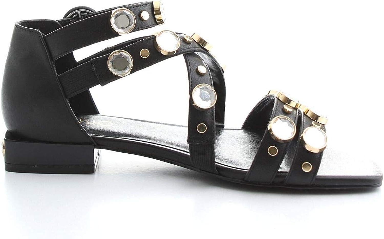 Liu Jo Women's S19037P00622222 Black Leather Sandals