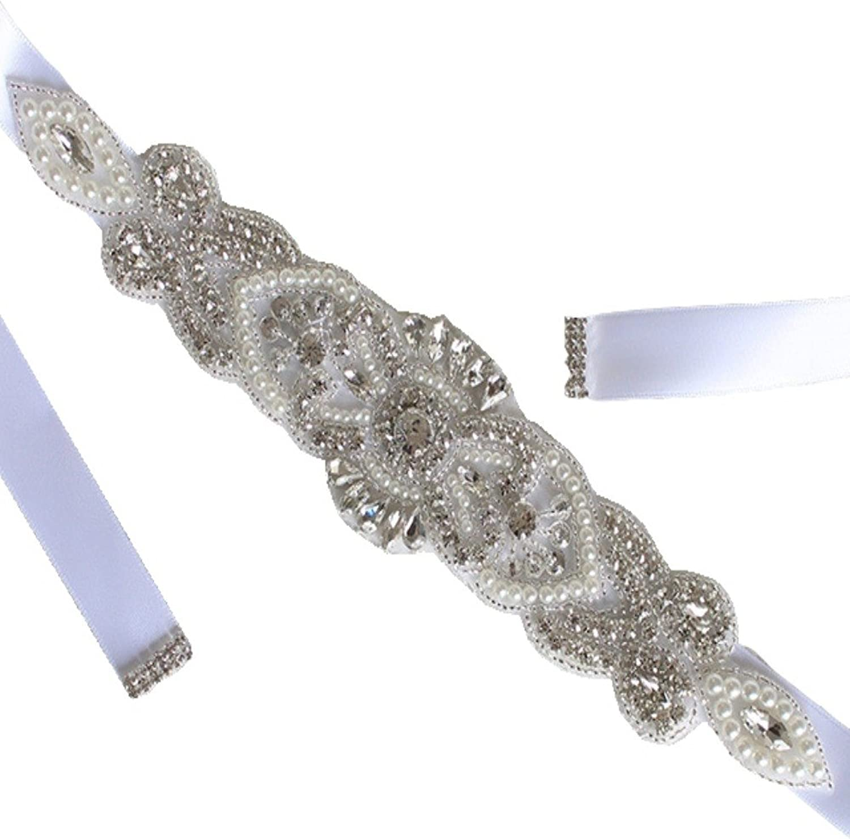Annie's Bridal Women's Crystal Wedding Belts Brides Sashes Formal Dress Accessories26