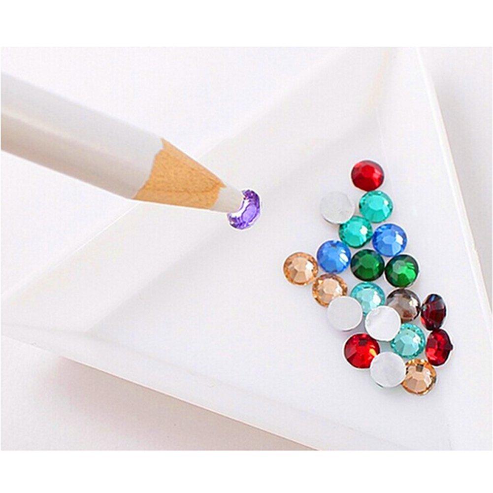ぼろしたがって殺人者(ビュティー)Biutee ラインストーン 鉛筆 ネイルアート ツール ワックス ホワイト ペン 宝石 クリスタル マジカルペン(2本セット)