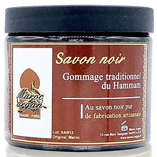 Gommage au Savon noir traditionnel 100% naturel 200ml