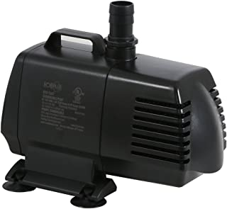 EcoPlus 1340 GPH (5072 LPH, 125W) Submersible Water Pump w/ 15 ft Power Cord | Aquarium,..