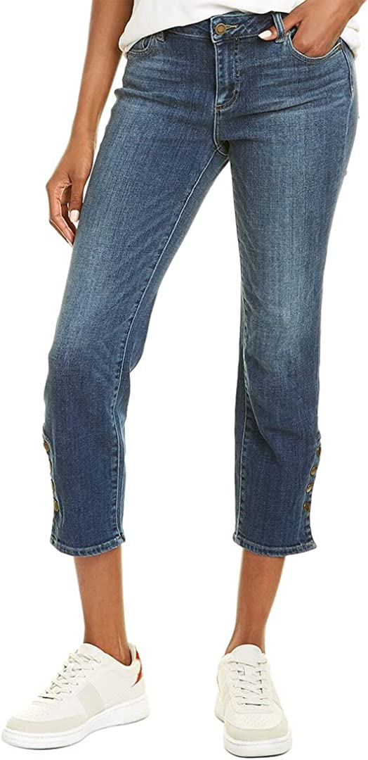 Vince Camuto Women's Snap Cropped Jean Sale Special Price Cuff overseas