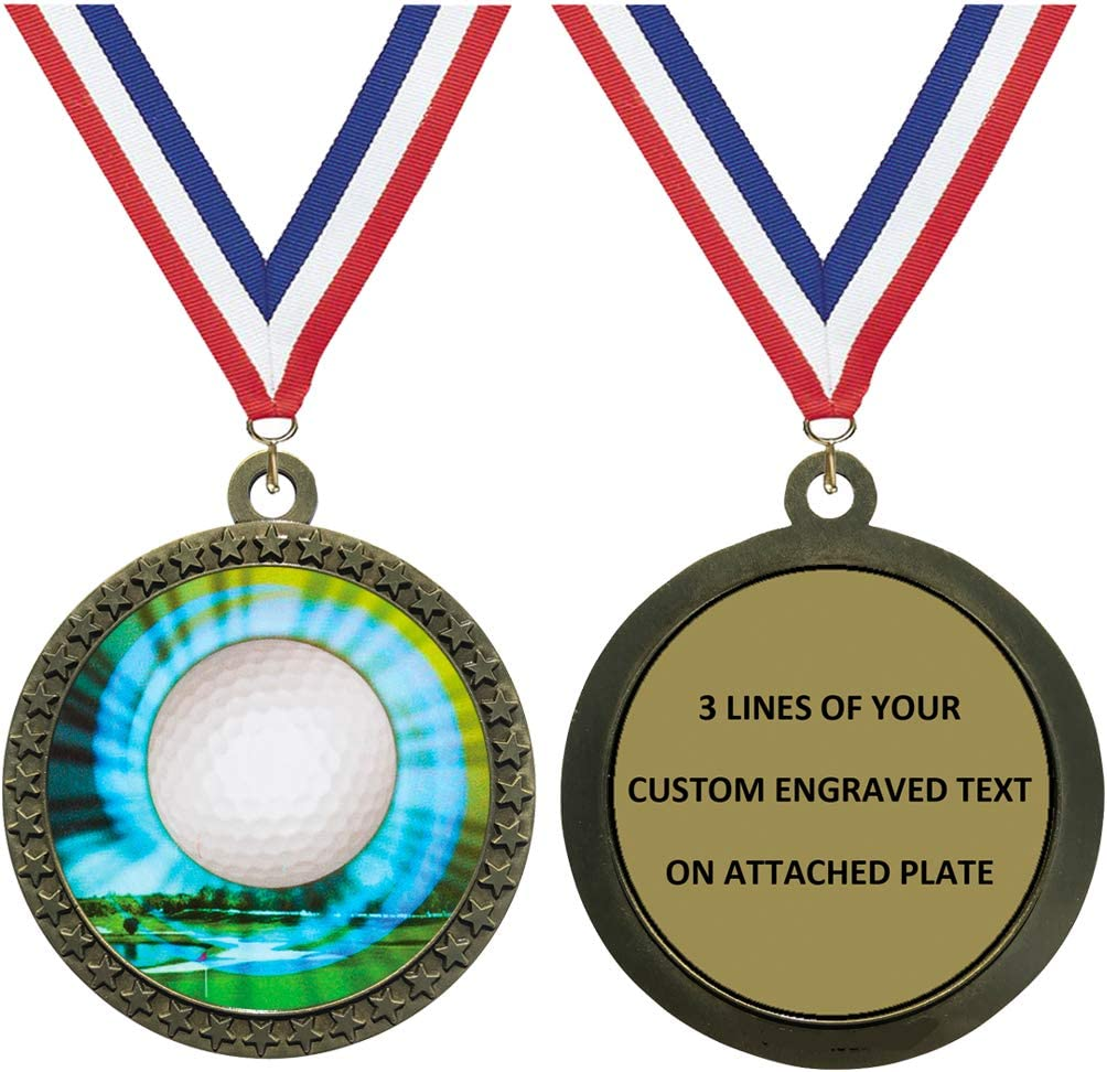 Express Medals 1 to 50 security Packs Gold Ranking TOP6 Engraved Medal Trophy Golf Awa