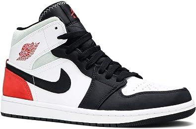 Nike Air Jordan 1 Mid 'Black Toe Union' Grade School Sneakers BQ6931-100