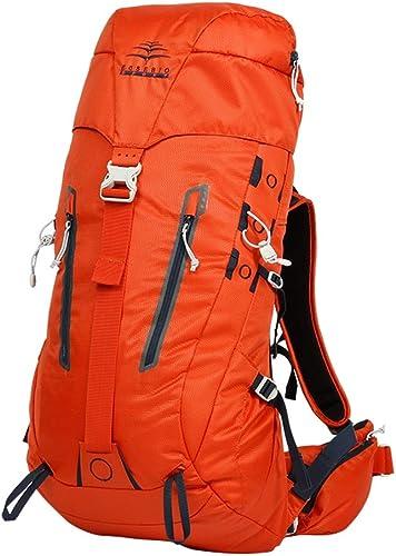 HBJP Sac à Dos en Plein air Sac à Dos Plein air Hommes et Femmes randonnée imperméable Sac de Voyage Sac à Dos de randonnée 50L (Couleur   Orange)