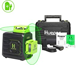 Huepar 2 x 360 Cross Line Self-leveling Laser Level, 360° Green Beam Dual Plane Leveling..