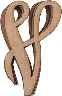 Homeford Wooden Cursive Letter V, 3-Inch, 6-Piece