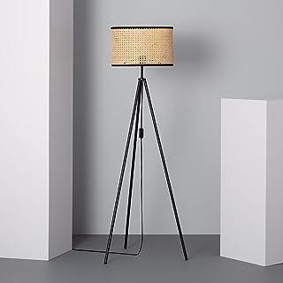 LEDKIA LIGHTING Lampadaire Huela Ø380x1450 mm Crème E27 Rotin pour Décoration Salon, Chambre, Cuisine