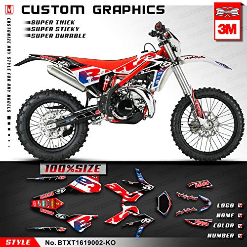 Kungfu Graphics Custom Decal Kit for Beta 250 300 Xtrainer 2016 2017 2018 2019 2020, Red Black White
