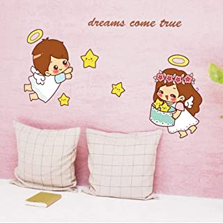 Cartoon Cute Little Angel Wall Sticker for Kids Baby Rooms Bedroom Home Decoration Decals Wallpaper Boys Girls Stars Stickers