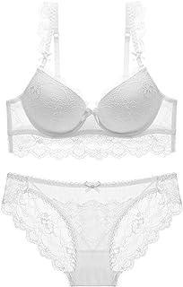4f3f24e068 HUABAN Women Underwire Push Up Sexy Lace Bra Transparent Panty