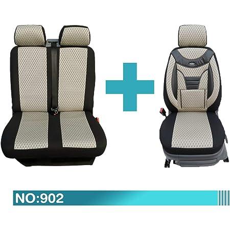 Maß Sitzbezüge Kompatibel Mit Fiat Ducato Typ 250 1 2 Fahrer Mit Doppelsitzbank Ab Bj 2006 2013 Farbnummer 902 Baby