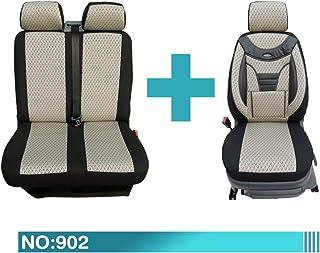 Für Vivaro ab 2014 paßgenaue Sitzbezüge ECO-LINE 1+2 mit grauer Lamelle.