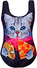 NUDEYORM 3D Cut Eating Pizza Bikini Set Push Up Swimwear Beach Bathing Suit One Piece Swimsuit for Girls