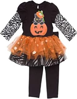 Rare Edition Girl's Orange Pumpkin Tutu Set : Girl's Halloween Outfits 9 months
