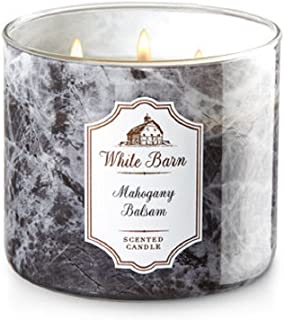 Bath and Body Works White Barn Scented Candle 3 Wick Mahogany Balsam 14.5 Ounce