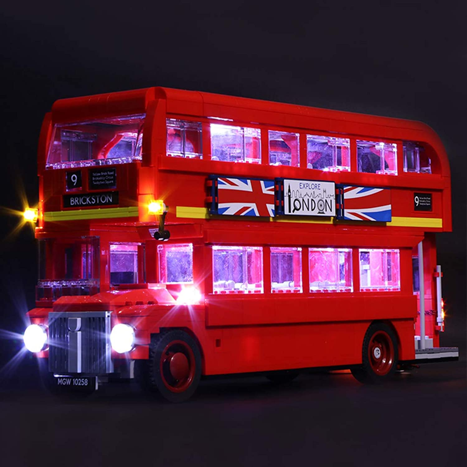 NURICH Light Set for LEGO London Bus 10258 Building Kit, Powered By Battery Pack, LEGO Set is Not Included