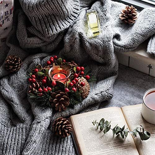 Weihnachten Kerzenhalter Weihnachten Tabletop Kerzenhalter für Urlaub Dekoration Home Decor Mini Tannenzapfen Kerzenhalter