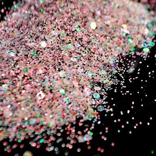 Gabcus Tulsa Mall 200g bag Mixed Nail Glitter Super Colorful G Matte Powder 100% quality warranty!