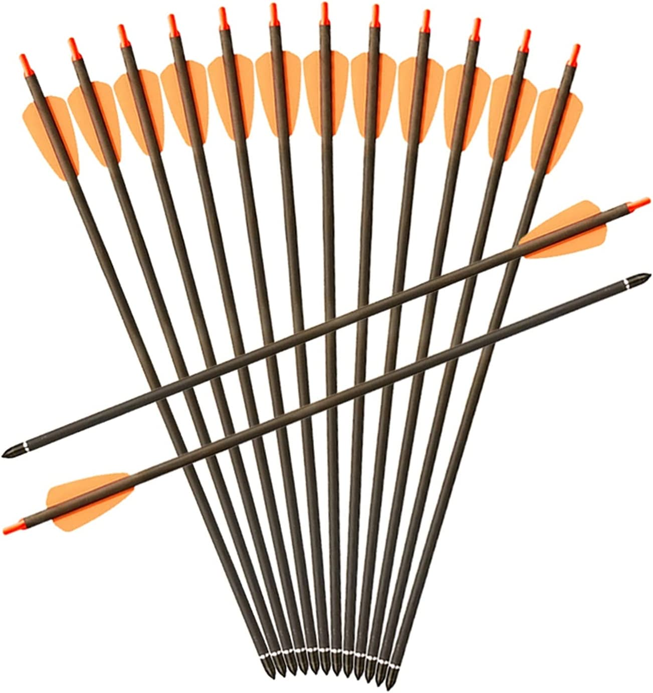 YJDSZD Hunting Archery SP350 Our shop most popular Pure Carbon 15inch Arrows Crossbow Las Vegas Mall