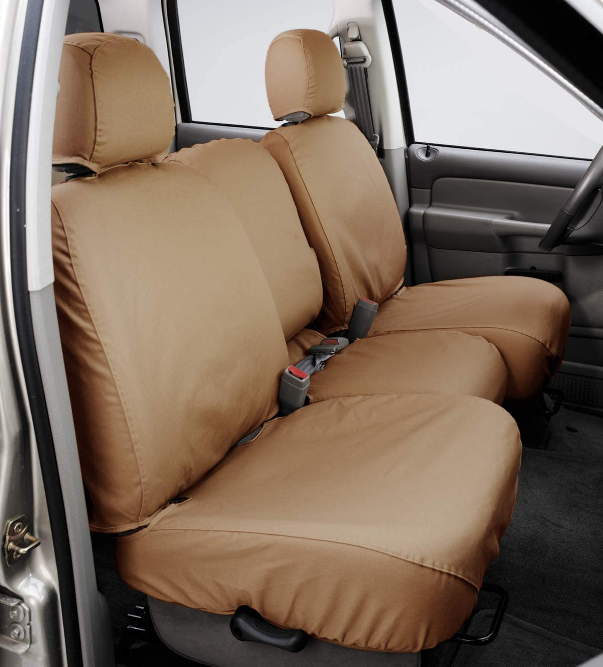 Covercraft SeatSaver Front Row Custom Fit Seat Cover for Select Ford F-150 Models Misty Grey Polycotton