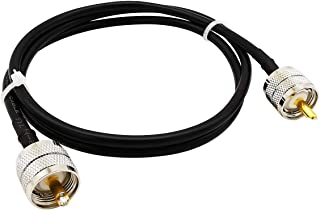 ALLiSHOP PL259 Cable Jumper Male to Male UHF Coax Cable CB Coax Patch Cord (2 feet) with Low Loss RG58 50 Ohm for CB Radio...
