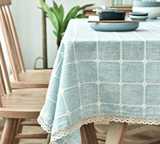 LMWB Bordsskydd, bordsduk, bomull linne vattentät enkel rektangulär soffbord bordsduk bordsduk-B-1_120 x 170 cm