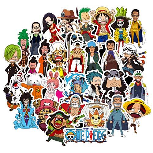 Pegatinas de One Piece, Pegatinas de One Piece PVC Graffiti Pegatinas Stickers Paquete de Pegatinas 50 Pcs Pegatinas Impermeable para Laptop One Piece Paquete de Pegatinas Niña y Niños (W-341)