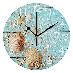 ALAZA Vintage Marine Seashells Round Acrylic Wall ...