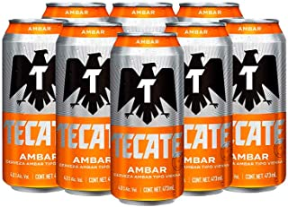 Cerveza Tecate Ámbar 24 Latas de 473ml