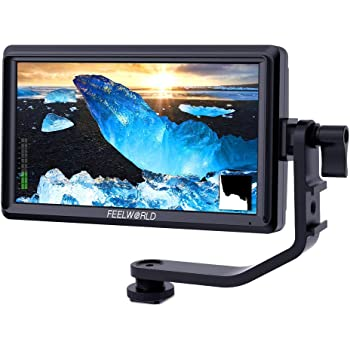 Charger FEELWORLD F5 Camera Monitor 5 in DSLR Camera Monitor Full HD 1920x1080 IPS 4K Video Peaking Focus Assist with N750 Battery