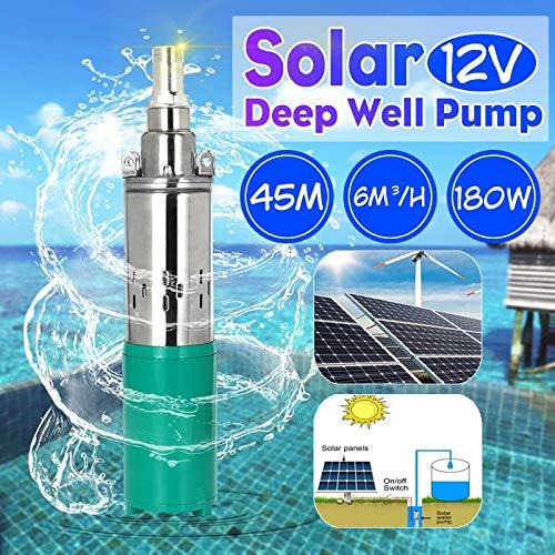 SHIJING nieuwe zonne-waterpomp 12 V 180 Watt 6000 L/h 45 mt diepbronpomp DC schroef dompelpomp irrigatie tuin huis landelijke
