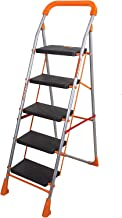 Parasnath Orange Diamond Heavy Folding Ladder with Wide Steps 5 Steps 5.1 FT Ladder (Made in India)