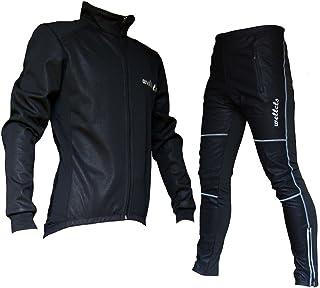 ウェルクルズ(Wellcls) 冬用 サイクル ウインドブレークジャケット 上下セット 防風素材 サイクルウェア サイクルジャージ ウインドブレーカー サイクルジャケット 冬 スポーツウェア 自転車 ロードバイク サイクリング